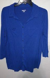 Lapis Boyfriend Pocketed Shirt Sz XL